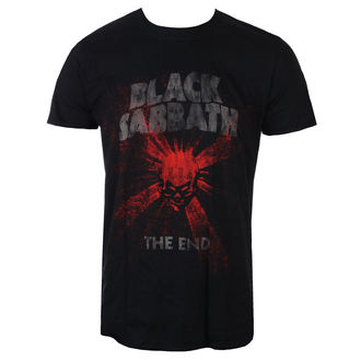 tričko pánské Black Sabbath - The End Skull Shine - Blk - ROCK OFF, ROCK OFF, Black Sabbath