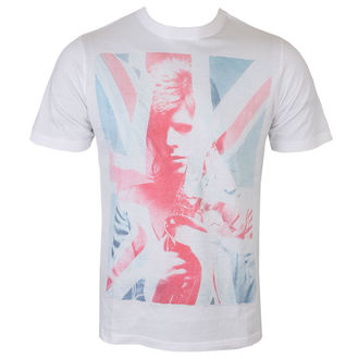 tričko pánské David Bowie - Union Jack and Sax Sublimation - White - ROCK OFF, ROCK OFF, David Bowie