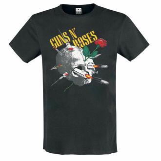 tričko pánské Guns N' Roses - NEEDLE SKULL - CHARCOAL - AMPLIFIED, AMPLIFIED, Guns N' Roses