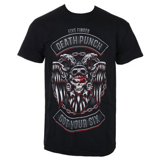 tričko pánské Five Finger Death Punch - Biker Badge - Black - ROCK OFF, ROCK OFF, Five Finger Death Punch