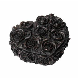 dekorace (krabička) ALCHEMY GOTHIC - Rose Heart - Black, ALCHEMY GOTHIC