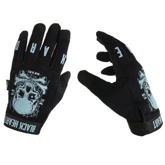 rukavice BLACK HEART - Moto W-TEC Web Skull - BLACK, BLACK HEART