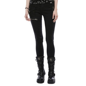 kalhoty dámské (jeans) PUNK RAVE - Black Star, PUNK RAVE