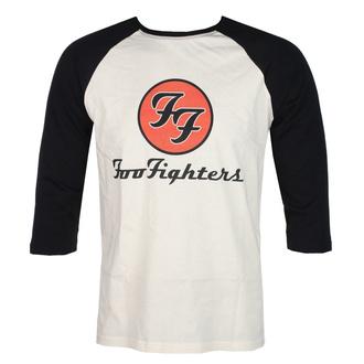 tričko pánské s 3/4 rukávem FOO FIGHTERS - RED CIRCULAR LOGO - ECRU/BLACK - GOT TO HAVE IT, GOT TO HAVE IT, Foo Fighters