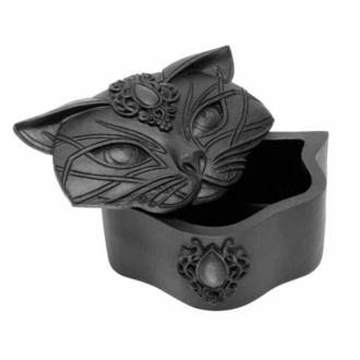 dekorace (krabička) ALCHEMY GOTHIC - Sacred Cat - Black, ALCHEMY GOTHIC