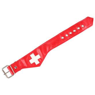 obojek Cross - White/Red, NNM