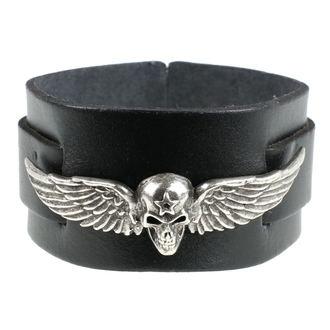 náramek Skull Feathers - Black