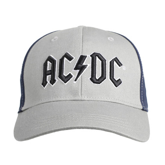 kšiltovka AC/DC - Black Logo -GREY/NAVY - ROCK OFF, ROCK OFF, AC-DC