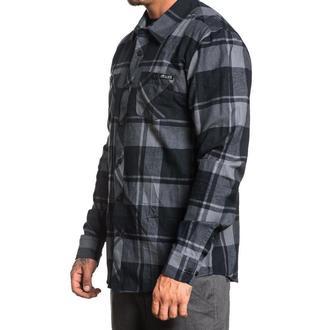 košile pánská SULLEN - OIL STAIN - BLACK/GREY, SULLEN