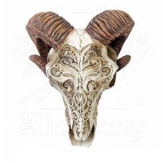 dekorace ALCHEMY GOTHIC - Skrimshaw Ram Skull