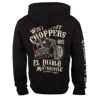 mikina pánská West Coast Choppers - EL DIABLO - Black, West Coast Choppers
