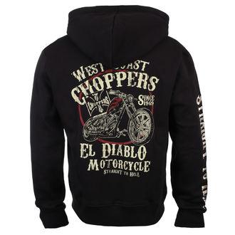 mikina pánská West Coast Choppers - EL DIABLO - Black, West Coast Choppers