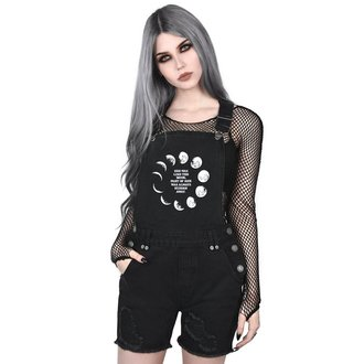 kraťasy dámské KILLSTAR - MANY MOONS DENIM - BLACK, KILLSTAR