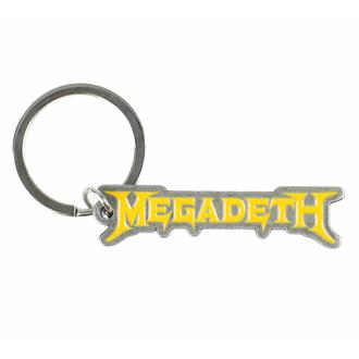 klíčenka (přívěsek) MEGADETH - LOGO - RAZAMATAZ, RAZAMATAZ, Megadeth