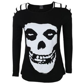 tričko dámské s dlouhým rukávem MISFITS - SKULL - BLACK - LIVE NATION, LIVE NATION, Misfits