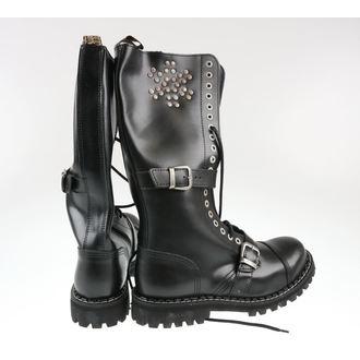 boty STEEL - 20 dírkové Rivets Black - POŠKOZENÉ, STEEL