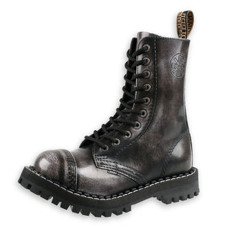 boty STEEL - 10 dírkové šedé (105/106 White)
