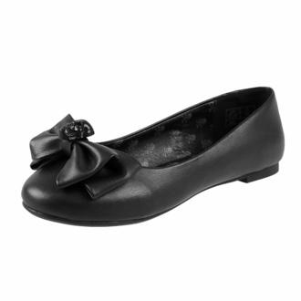 boty dámské (baleríny) KILLSTAR - Bow Down Ballet Flats - Black, KILLSTAR