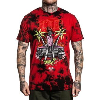 tričko pánské SULLEN - ISLANDER - BLACK/RED WASH - SCM2805_BKRD