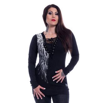 tričko dámské s dlouhým rukávem VIXXSIN - SHADOW ANGEL - BLACK, VIXXSIN