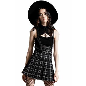 sukně dámská KILLSTAR - Shadows Suspender - Ash, KILLSTAR
