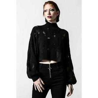 svetr dámský KILLSTAR - Shred It Crop Knit - Black - KSRA004150
