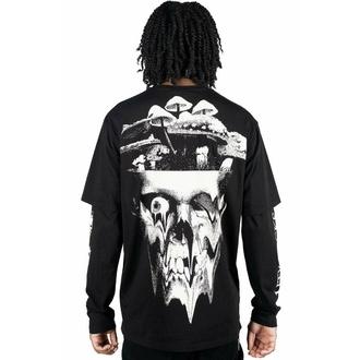 tričko s dlouhým rukávem unisex KILLSTAR - Shrooms Double - BLACK, KILLSTAR