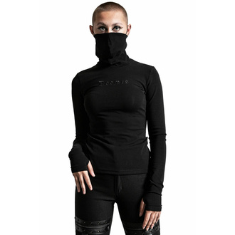tričko dámské s dlouhým rukávem KILLSTAR - Sit & Spin Turtleneck - Black, KILLSTAR