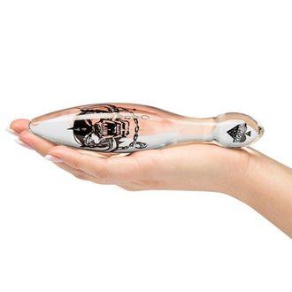dildo Motörhead - Bomber Glass Clear - PLASTIC HEAD