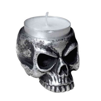 svícen (dekorace) ALCHEMY GOTHIC - Skull Tea - V74