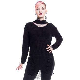 svetr dámský Vixxsin - SLIT NECK DECAY - BLACK, VIXXSIN