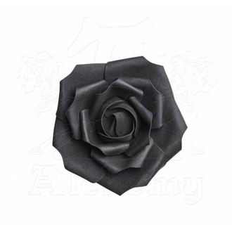dekorace ALCHEMY GOTHIC - Small Black Rose Head, ALCHEMY GOTHIC
