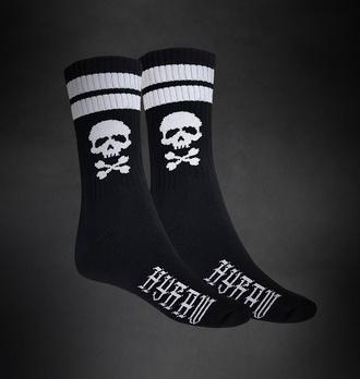 ponožky HYRAW - SKULL - BLACK, HYRAW