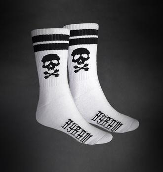 ponožky HYRAW - SKULL - WHITE, HYRAW