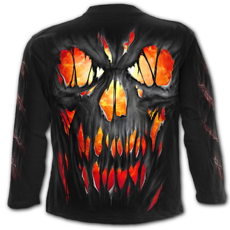 tričko pánské s dlouhým rukávem SPIRAL - FRIGHT NIGHT - Black, SPIRAL