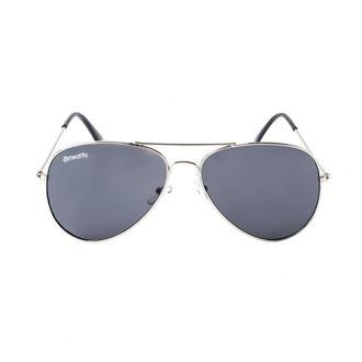 brýle sluneční MEATFLY - SCOTT - A - 4/17/55 - Silver - Black, MEATFLY