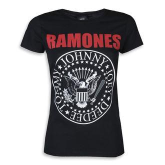 tričko dámské RAMONES - RED TEXT SEAL LOGO - PLASTIC HEAD, PLASTIC HEAD, Ramones