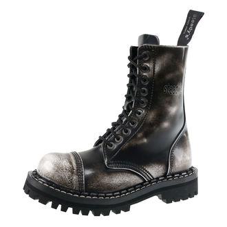 boty STEADY´S - 10 dírkové - White black - STE/10_white/black