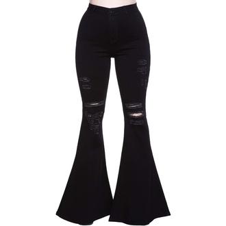 kalhoty dámské KILLSTAR - Sukie Denim Flares - Black, KILLSTAR