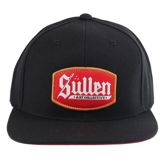 kšiltovka SULLEN - BLAQ LETTER - BLACK/RED, SULLEN