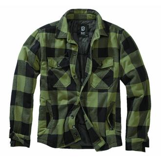 bunda pánská BRANDIT - Lumberjacket - 9478-black+oliv Gingham