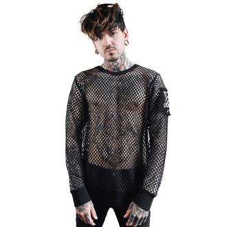 tričko pánské s dlouhým rukávem KILLSTAR - Syd Fishnet - BLACK - KSRA001811
