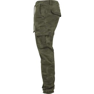 kalhoty pánské URBAN CLASSICS - Camo Cargo Jogging - olive camo - TB1611-olive camo