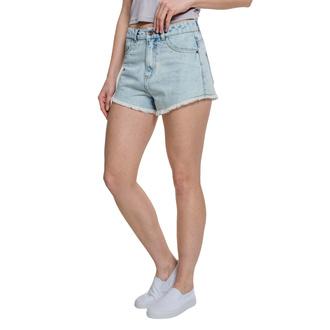 kraťasy dámské URBAN CLASSICS - Denim Hotpants - blue bleached, URBAN CLASSICS