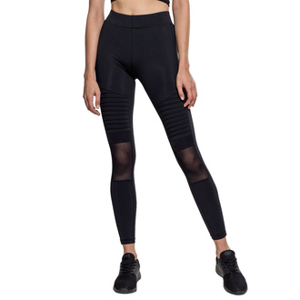 kalhoty dámské (legíny)URBAN CLASSICS - Tech Mesh Biker Leggings - black, URBAN CLASSICS