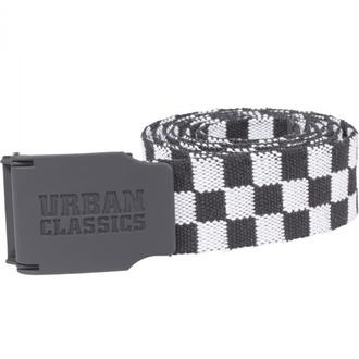 pásek URBAN CLASSICS - UC Canvas Checkerboard - black/white, URBAN CLASSICS
