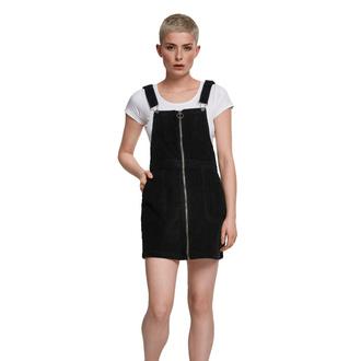 šaty dámské URBAN CLASSICS - Corduroy Dungaree - black - TB2369