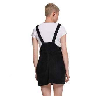 šaty dámské URBAN CLASSICS - Corduroy Dungaree - black, URBAN CLASSICS