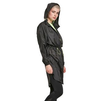 bunda dámská URBAN CLASSICS - Transparent Light Parka - black/electriclime, URBAN CLASSICS