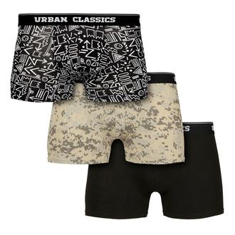boxerky pánské URBAN CLASSICS - 3-Pack - digital camo/aztec - TB3542